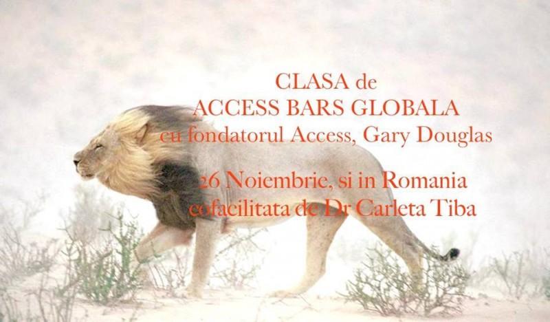 Access Bars cu fondatorul Access, Gary Douglas (clasa de Bars globala) - 26 noiembrie 2014