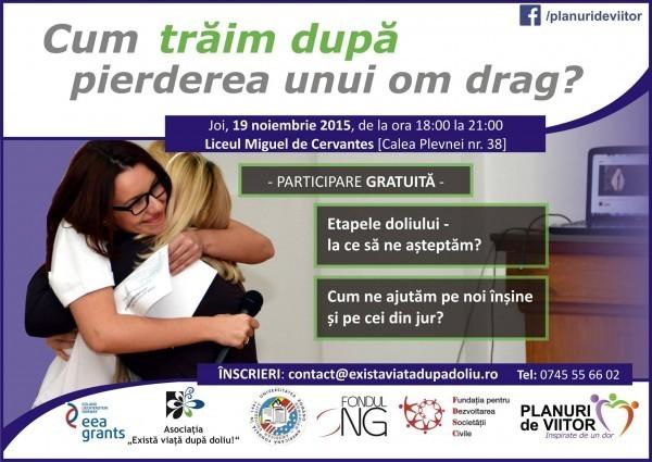 Conferinta gratuita: Cum traim dupa pierderea unui om drag? – 19 noiembrie 2015, Bucuresti