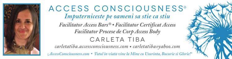 Access Bars si Access Consciousness, cu dr. Carleta Tiba