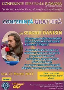 Conferinta ezoterica gratuita, cu maestrul Gon Po Serghei Danisin – 21 martie 2014, Iasi