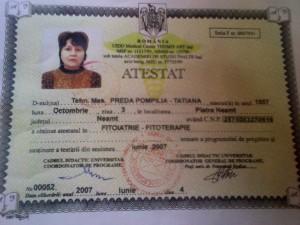 Fitoterapeut Preda Pompilia-Tatiana