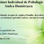 Cabinet Individual de Psihologie Andra Dumitrascu – Psihologie / Psihoterapie – Iasi