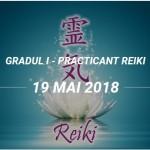 BUCURESTI | Curs practicant Reiki, gradul I – din 19 mai 2018