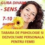 Tabara Sens, editia V: program complex de psihologie si dezvoltare personala dedicat femeilor | 7-10 august 2014, Gura Diham
