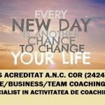 Formare: Specialist in activitatea de coaching (Centrul Metatron) - iulie-august 2016, Bucuresti