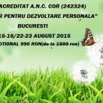Curs autorizat (Centrul Metatron): Consilier pentru dezvoltare personala – Bucuresti