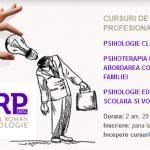 Cursuri de psihologie: Psihologie clinica | Psihologie ericksoniana | Psihologie educationala, consiliere scolara si vocationala - Bucuresti, din octombrie 2017