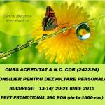 Curs autorizat (Centrul Metatron): Consilier pentru dezvoltare personala – din 13 iunie, Bucuresti