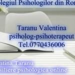 Taranu Valentina – Psiholog | Psihoterapeut – Constanta